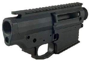 Picture of a black coated Black Rain Ordnance 308 Receiver