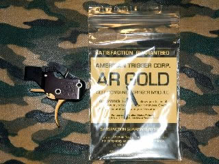 American Trigger Corp SR Gold Trigger System | ATC AR GOLD Trigger | AR 308 TRIGGER