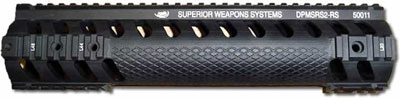 SWS RS2 Free Float Tube for AR-10 Sniper Rifle Model - with Knurl Grips - AR-10 Free Float Tube
