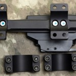 """308AR.com -Top View Disassembled - BOBRO Precision Optic Mount 1"""", Slightly Extended"""