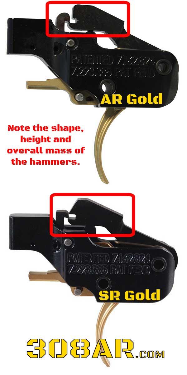 AR15 Trigger in an AR-10