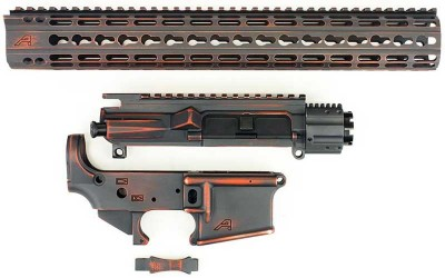 Aero Precision Battleworn Orange Grey AR15 Builder Set APPG100025