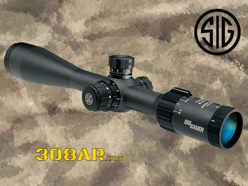 Picture of a Sig Sauer Tango4 6-24X50MM First Focal Plane Rifle Scope SOT46001