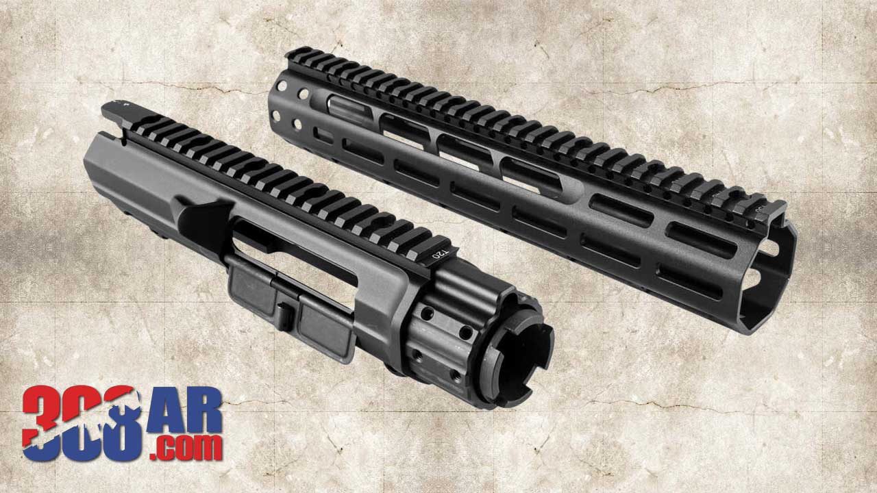 Picture of a Mega MML MATEN Rifle Length M-Lok Upper Receiver MML 4420 Handguard