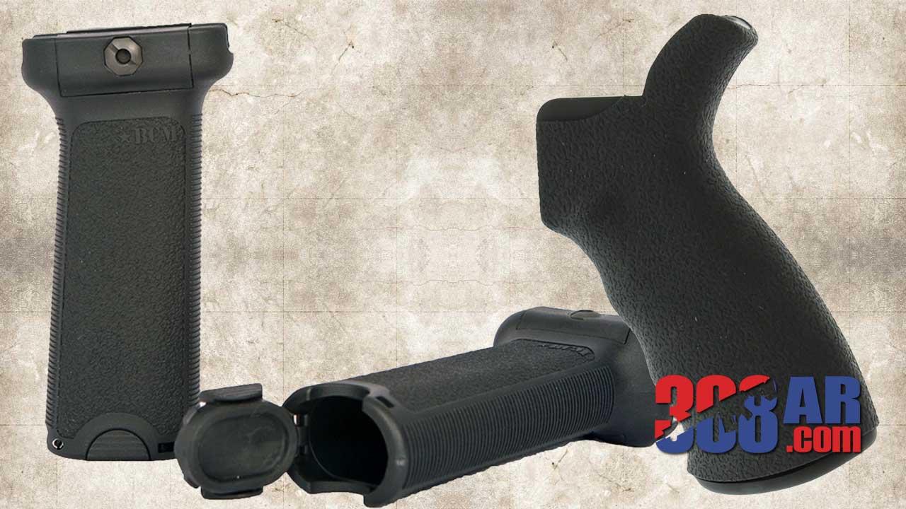 ERGO Grips AR-10 Suregrip AT, BCMGUNFIGHTER Vertical Grip
