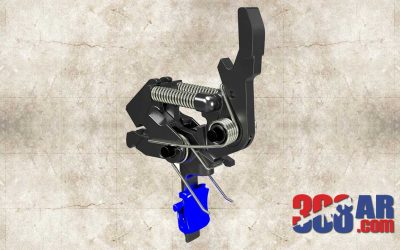 OpticsPlanet Exclusive HIPERFIRE HIPERTOUCH Blue Line Special Edition AR-10 Trigger HPTBL