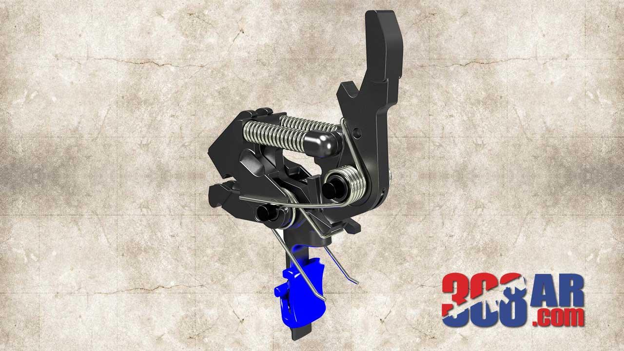 HIPERFIRE HIPERTOUCH Blue Line Special Edition AR-10 Trigger