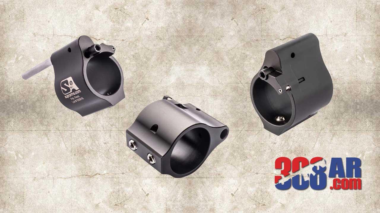 Superlative Arms Adjustable Gas Block Set Screw .875 Melonite SABO-DI-875SM