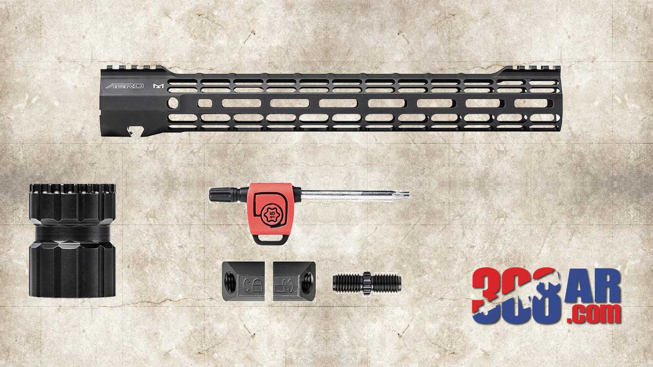 Picture of the Aero Precision M5 ATLAS S-ONE M-LOK Handguard Used For This CT Other Lightweight AR-10 Build