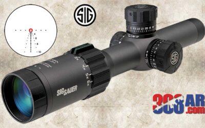 Sig Sauer Tango6T 1-6X24mm Riflescope 30mm FFP SOT61134