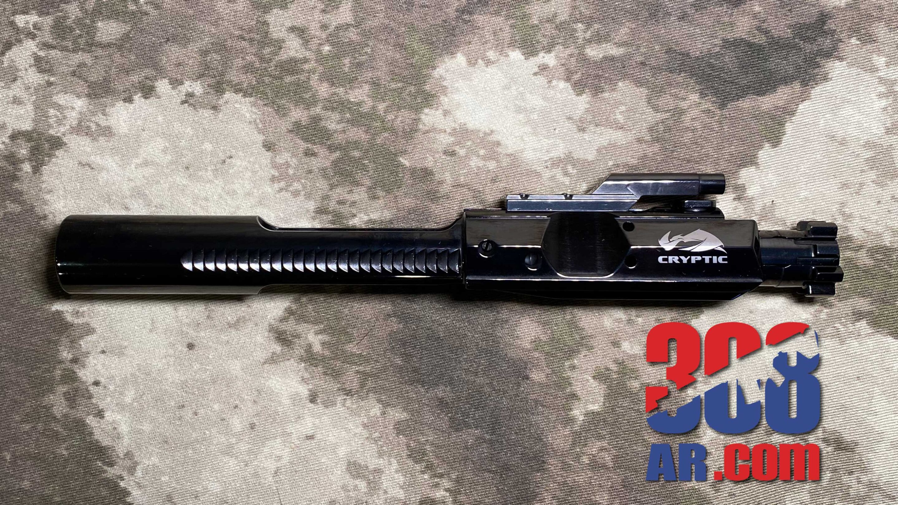 Picture of a Cryptic Coatings Mystic Black Bolt Carrier Group .308 Winchester