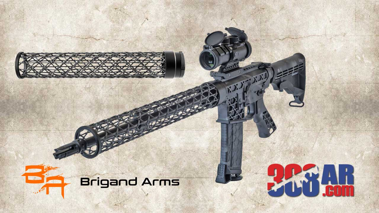 Brigand Arms Edge AR-10 Handguard Free Float Carbon Fiber Weave 12 Inch Black