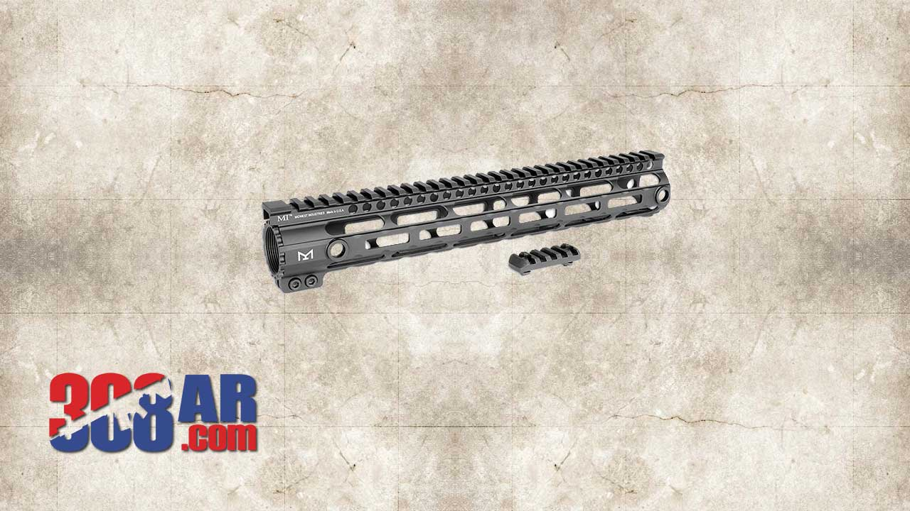 Picture of a Midwest Industries SS-Series One Piece Free Float AR-10 Handguard MI-AR10SSM15