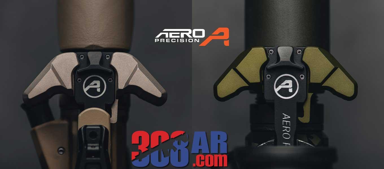 Aero Precision OD Green and Tan 308 Breach Charging Handles
